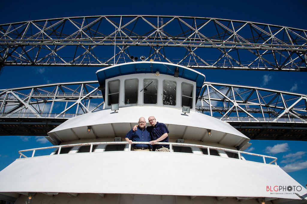 groom and groom married on tour boat